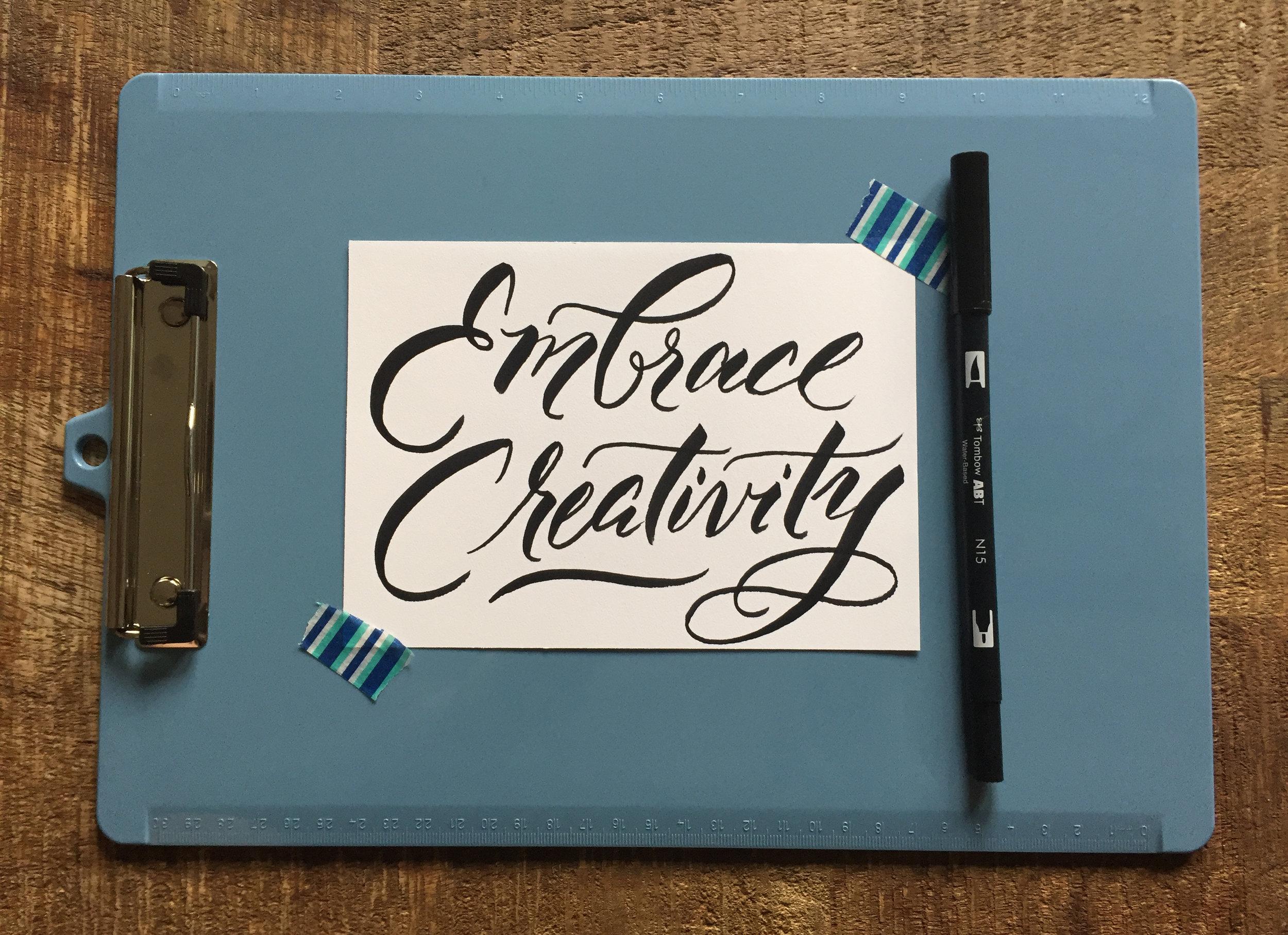 va calligraphy workshop