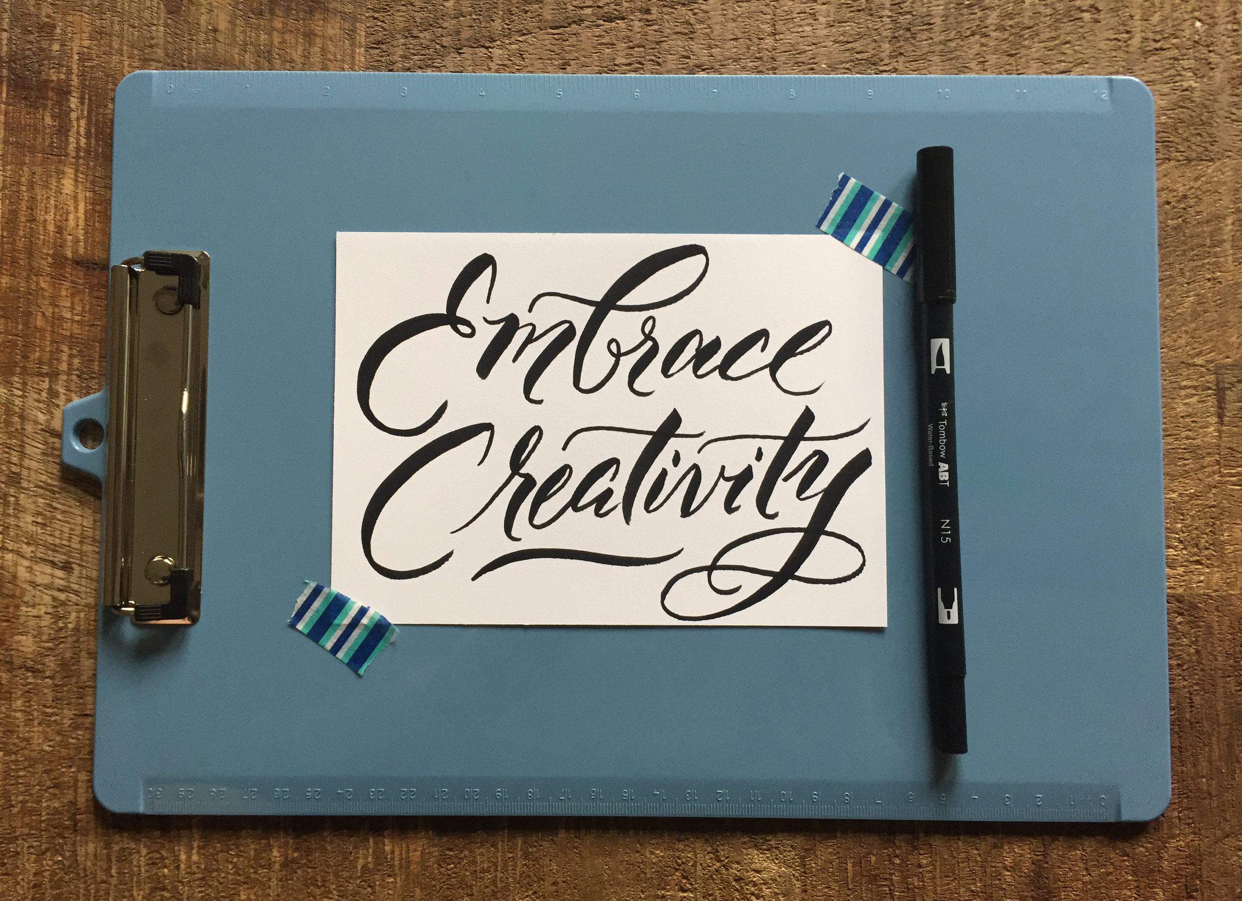 NEW MODERN BRUSH PEN LETTERING WORKSHOP!