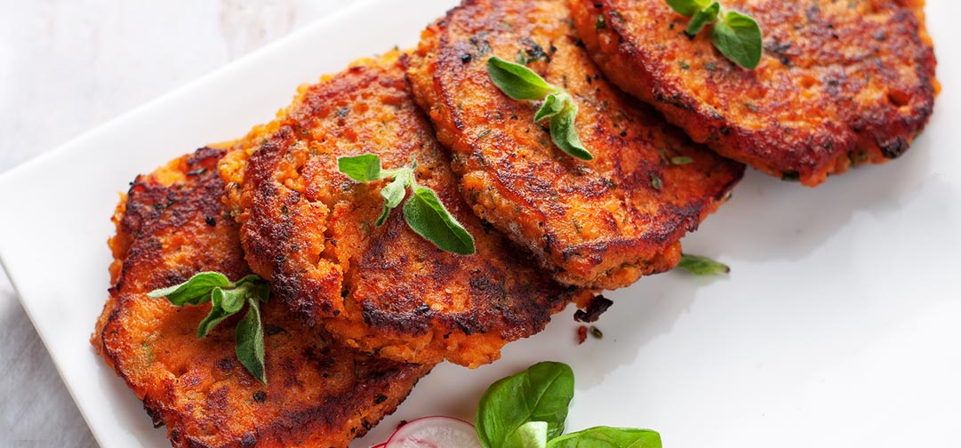 Tempeh Sweet Potato Cutlets Recipe: They're wholesome and healthy but taste like dessert! Just mix and heat. - Sweet Science Nutrition & Wellness, Healthy Sobriety with health coach Elena Skroznikova