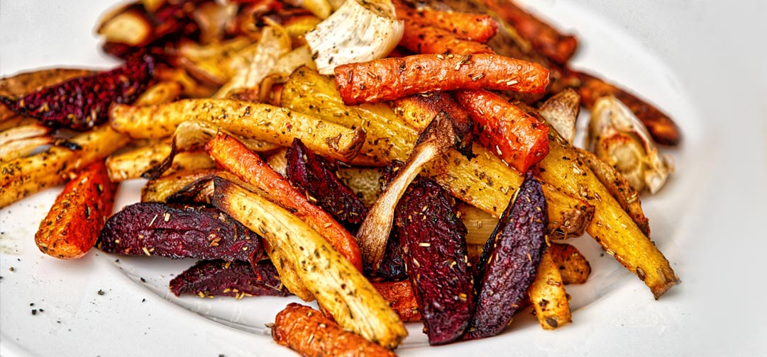 Sweet Carrot Fries Recipe: Baked Carrots, Untoasted sesame oil, Sea Salt, Spices - Sweet Science Nutrition & Wellness, Healthy Sobriety with health coach Elena Skroznikova