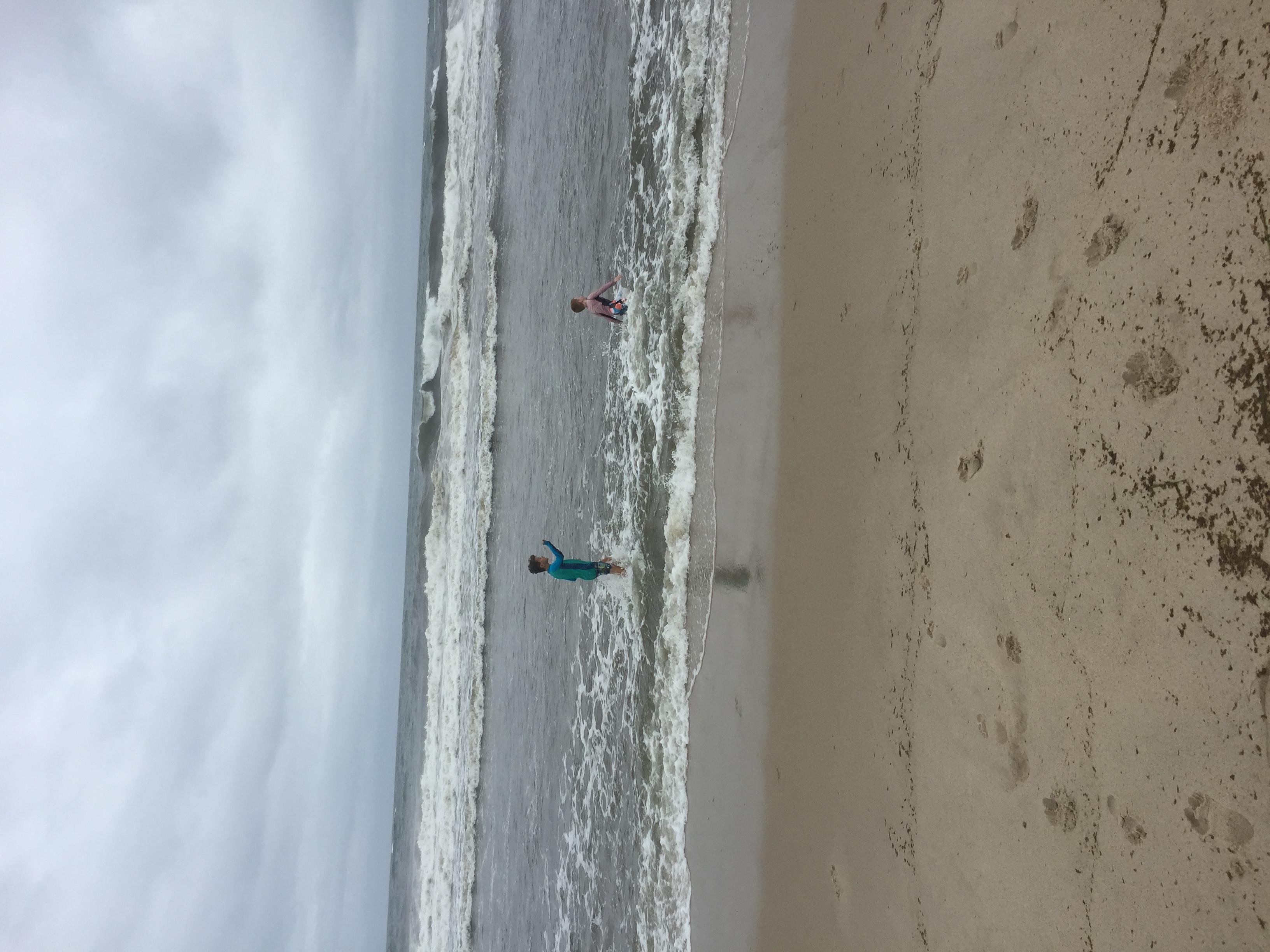 First Ocean Swim.
