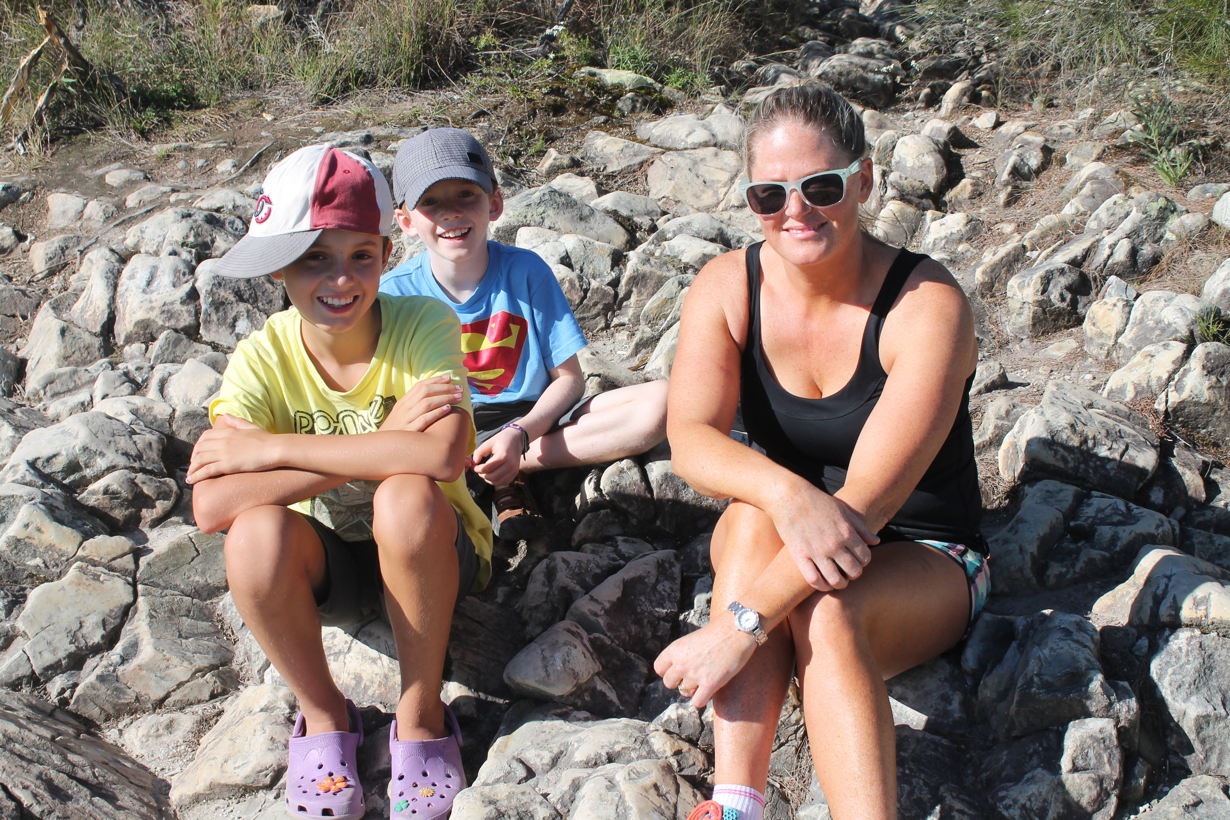 At the top of Mount Coolum
