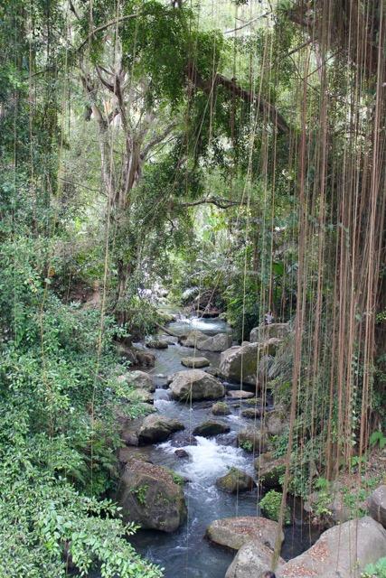 Stream through the Gunong Kawi temple