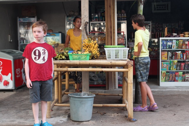 bartering for pineapples and mangos