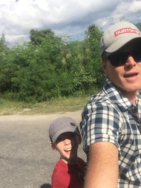 Riding around Inle Lake.