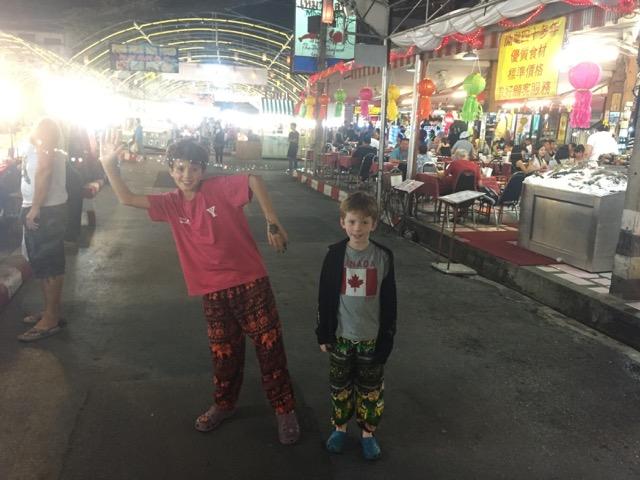 Max & Sully's new Thai pants.