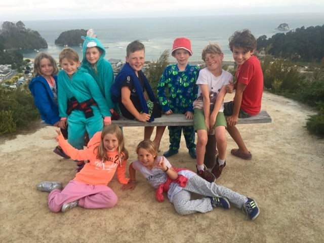 All of the kids who were camping at Kaiteriteri