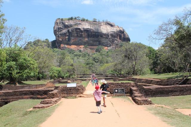 Walking up to Sigiriya