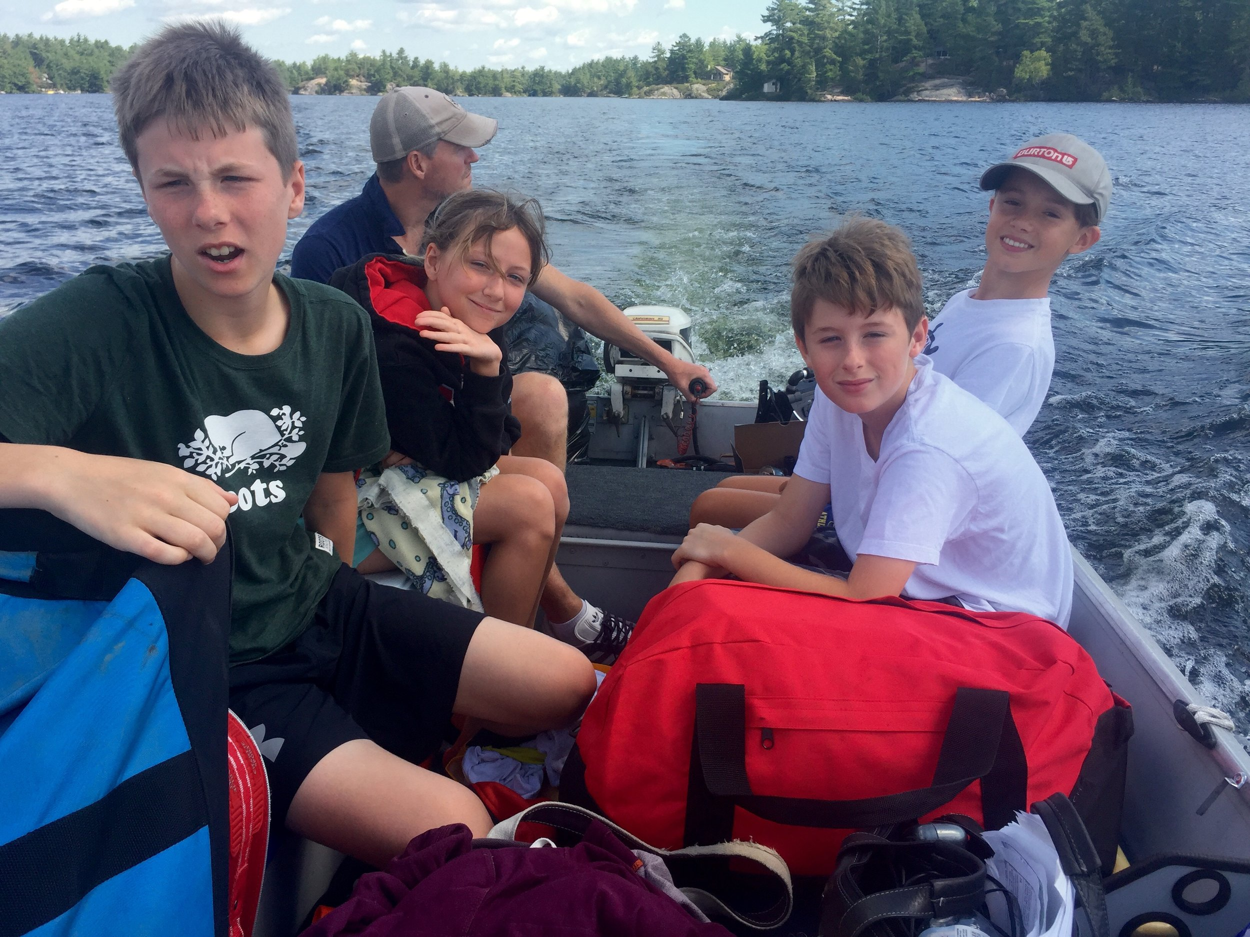 Stoney Lake with Deej and crew