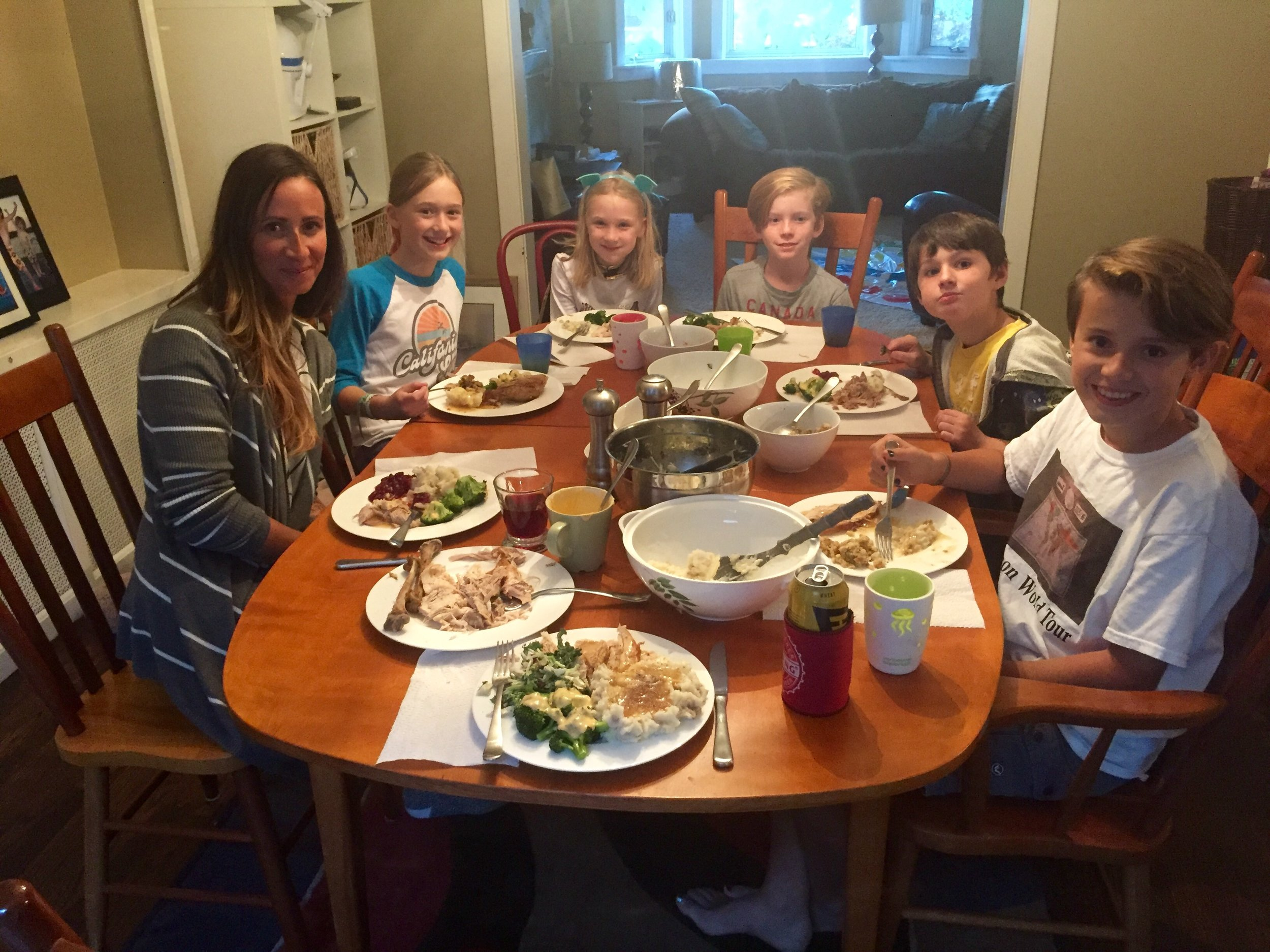 Thanksgiving with the besworth girls. And Kalum.