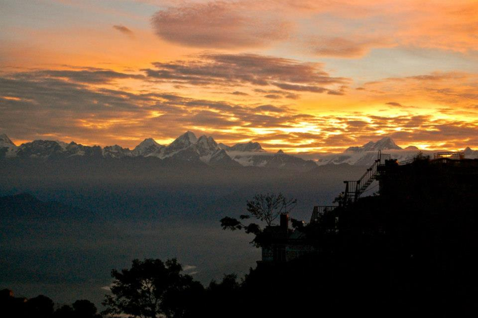 Amazing view of the Himilayas.