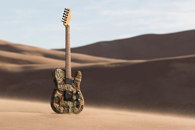 Introducing Quiltcaster #3: the camocaster. Made from vintage Vietnam camo material, this guitar is in a league of its own. Read about the photoshoot on the blog and let me know what you think in the comments! Link in bio.  #quiltedguitar #camoguitar #electricguitar #guitarphotography #productphotographer #guitarsoutside #blogpost #readtheblog #denverproductphotographer