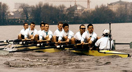 1998 record holding Cambridge Blue Boat