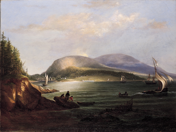 """Alvan Fisher, """"Camden Hills and Harbor,"""" 1852"""