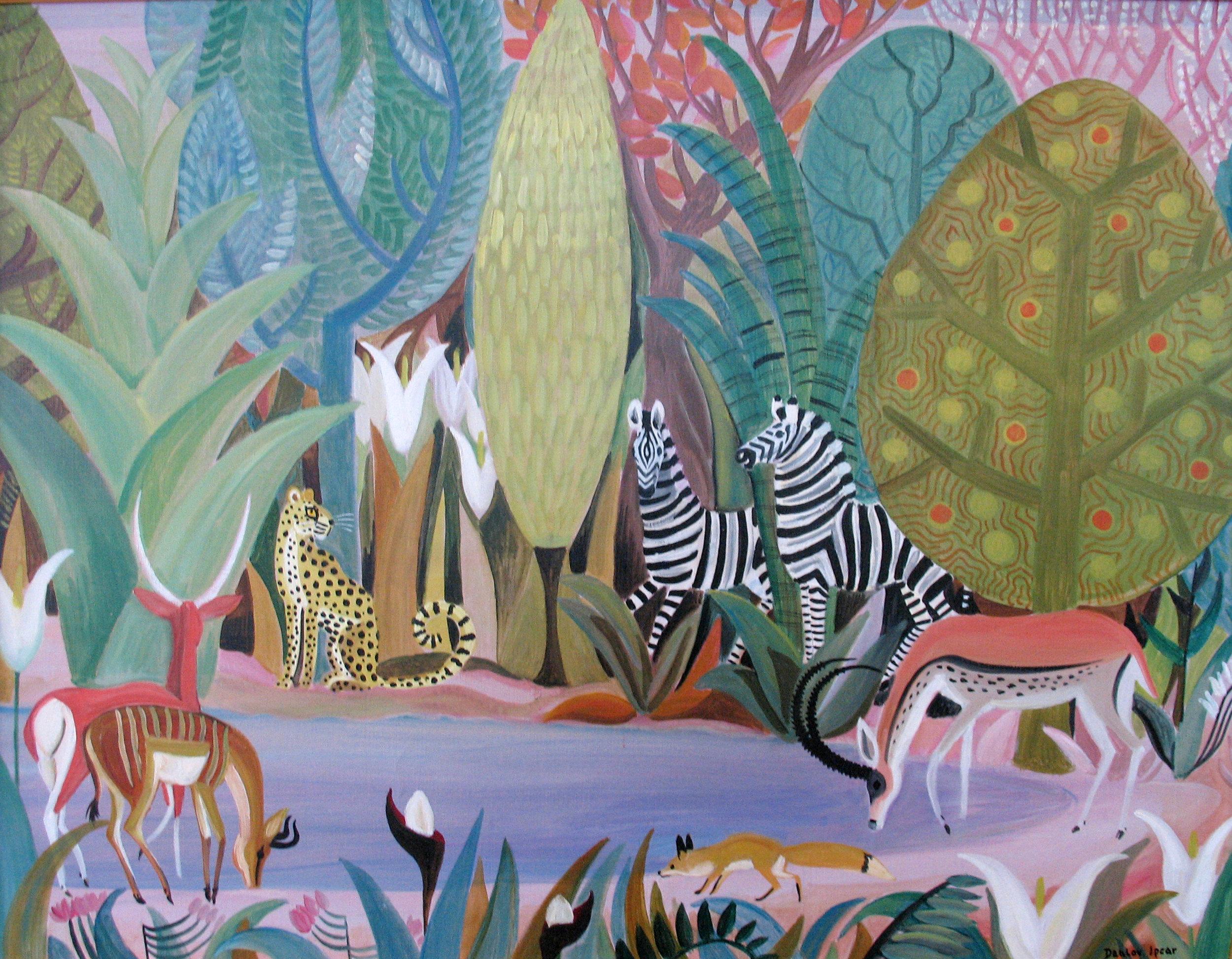 Dahlov Ipcar,  Jungle Pool , 1965 84.3.2