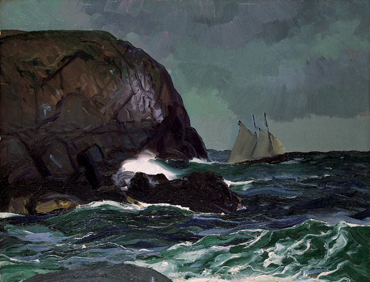 George Bellows,  Beating Out to Sea , 1913