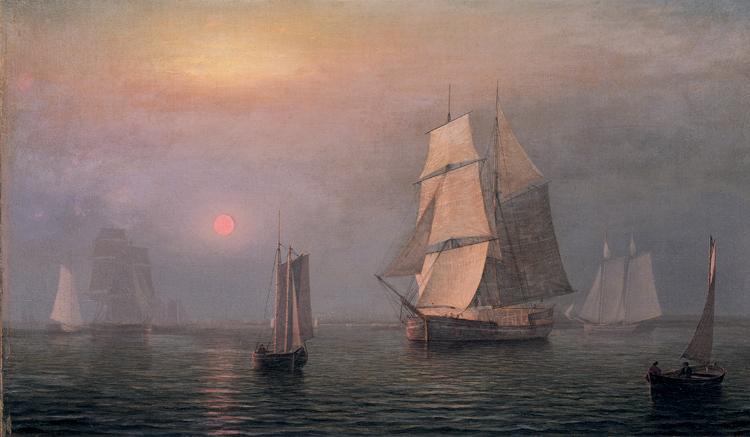 10.Fitz Henry Lane, Shipping in Doweast Waters, 1854, 60.1172