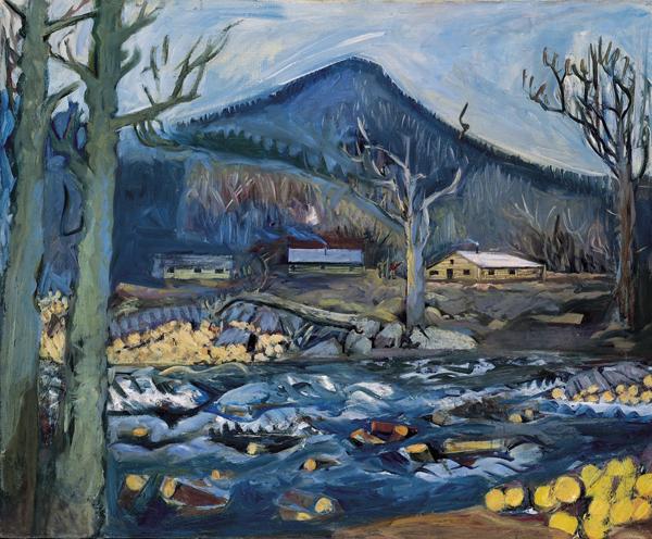 14.Carl Sprinchorn, Loggers' Cabin by the Stream, 1948, 94.5