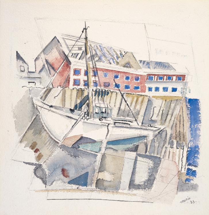 13.John Marin, Fishboat No.1 at Eastport, Maine Coast, 1933, 97.3.33