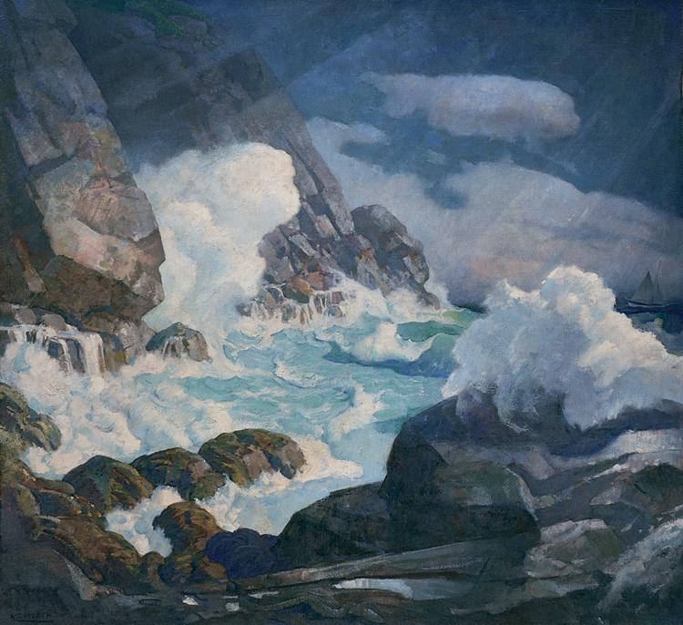 15.N.C. Wyeth, Maine Headland, Black Head, Monhegan Island, 1936-38, 97.3.59