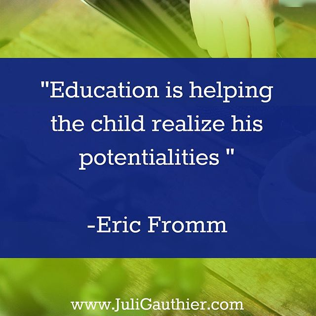 """Education is helping the child realize his potentialities"" -Eric Fromm #homeschool #homeschooling #education"
