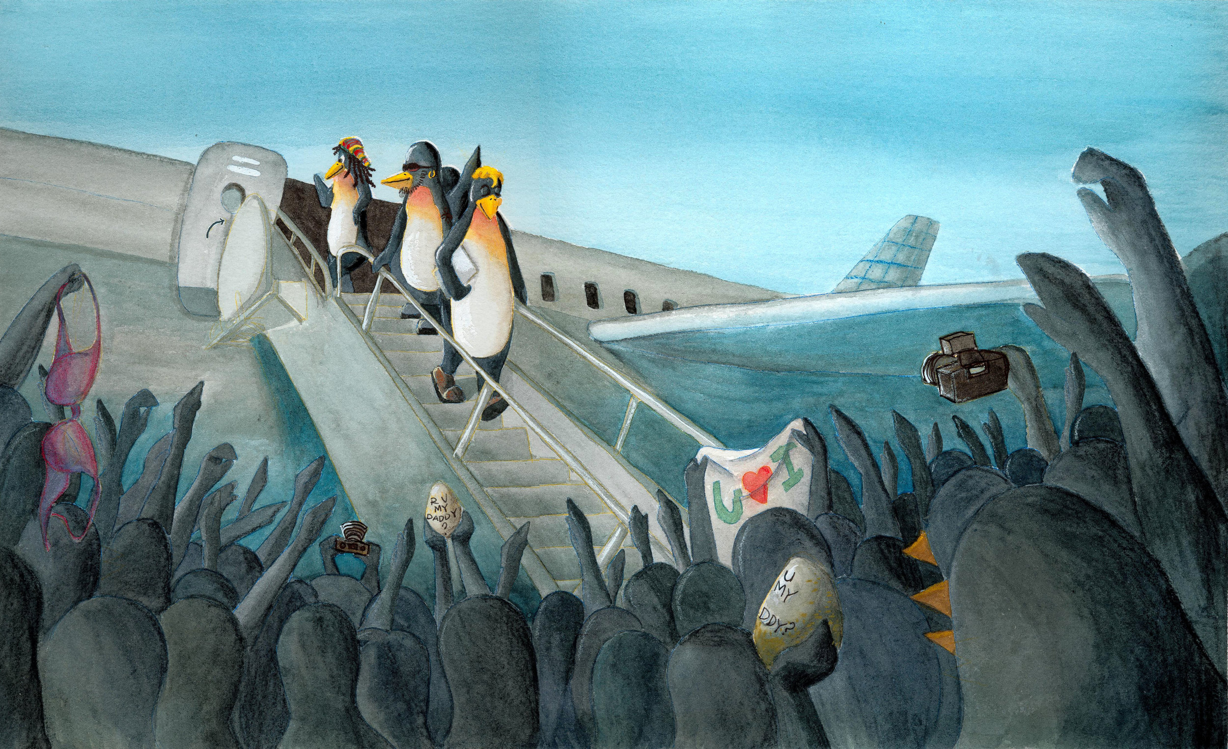 Penguins Arrival