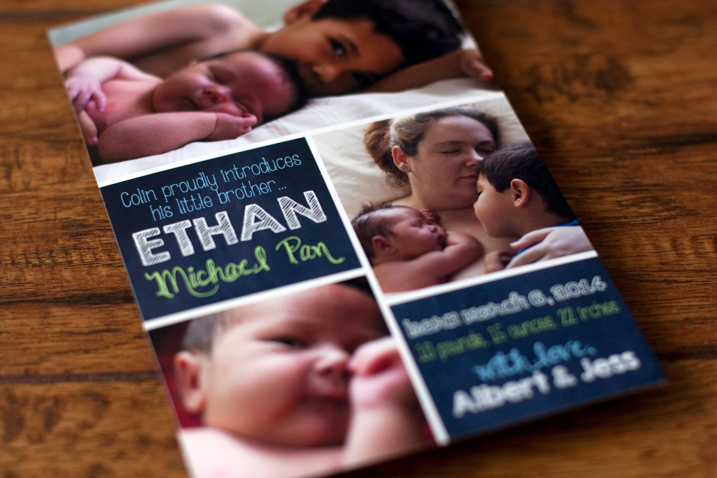 Ethan's Birth Announcement