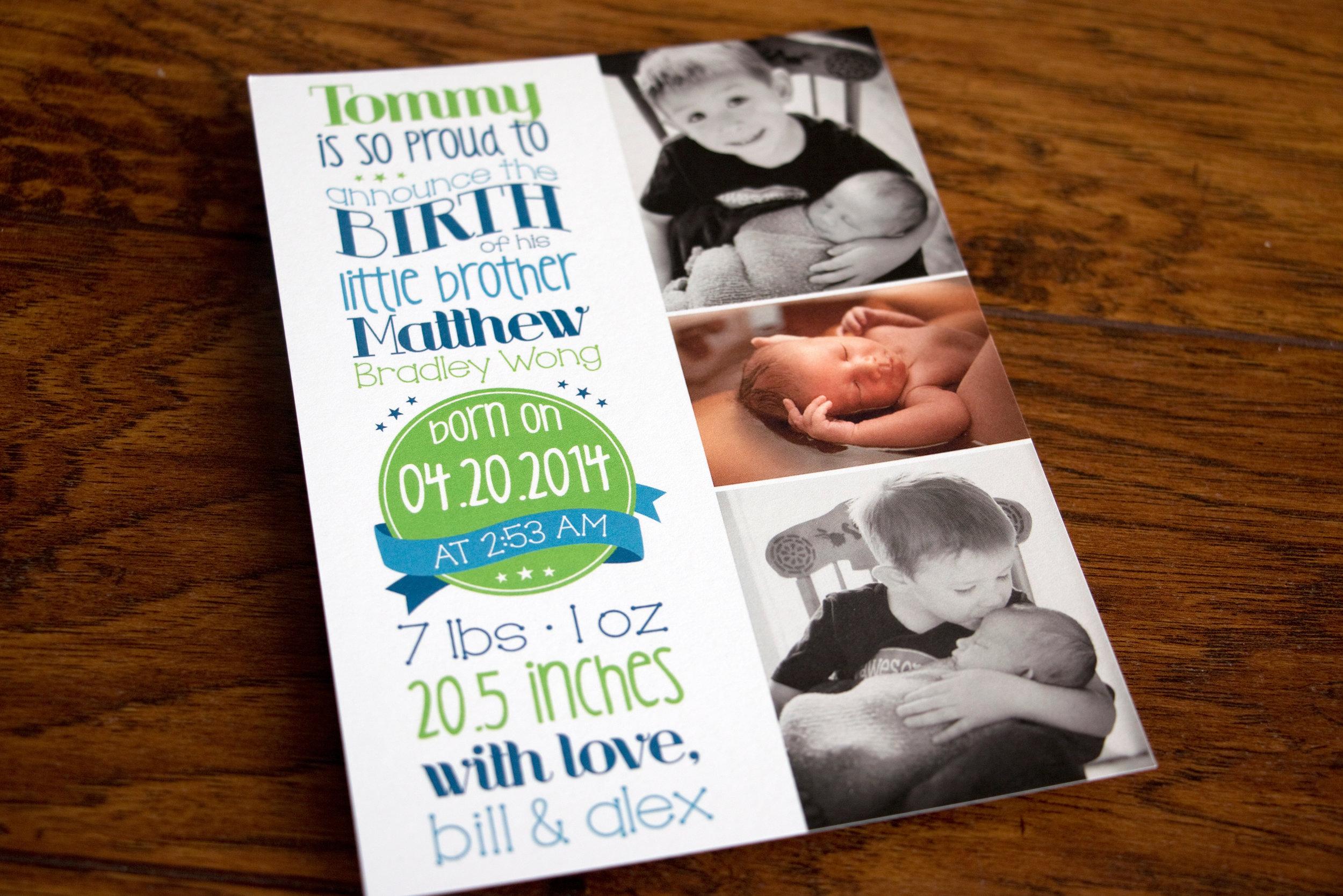 Matthew's Birth Announcement