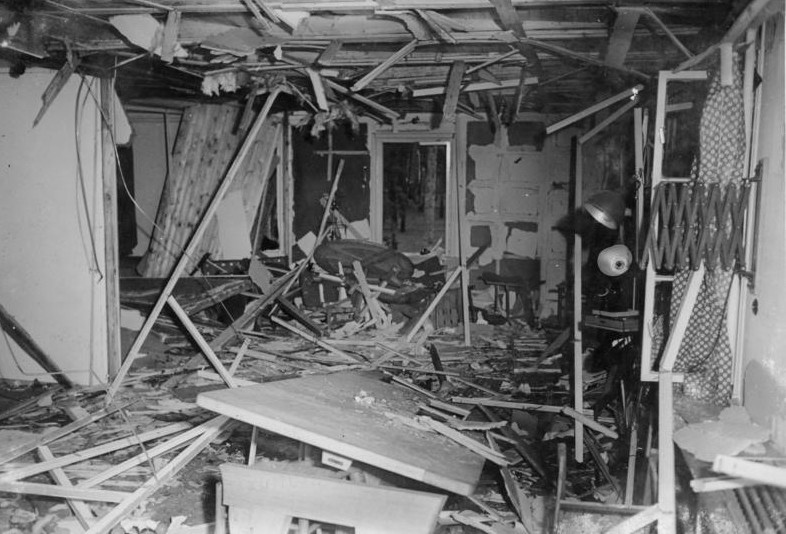 The Wolfsschanze, after the Valkyrie bombing: image courtesy  Bundesarchiv Bild