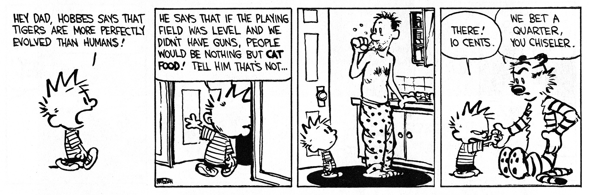 Calvin and Hobbes strip 034 © Bill Watterson
