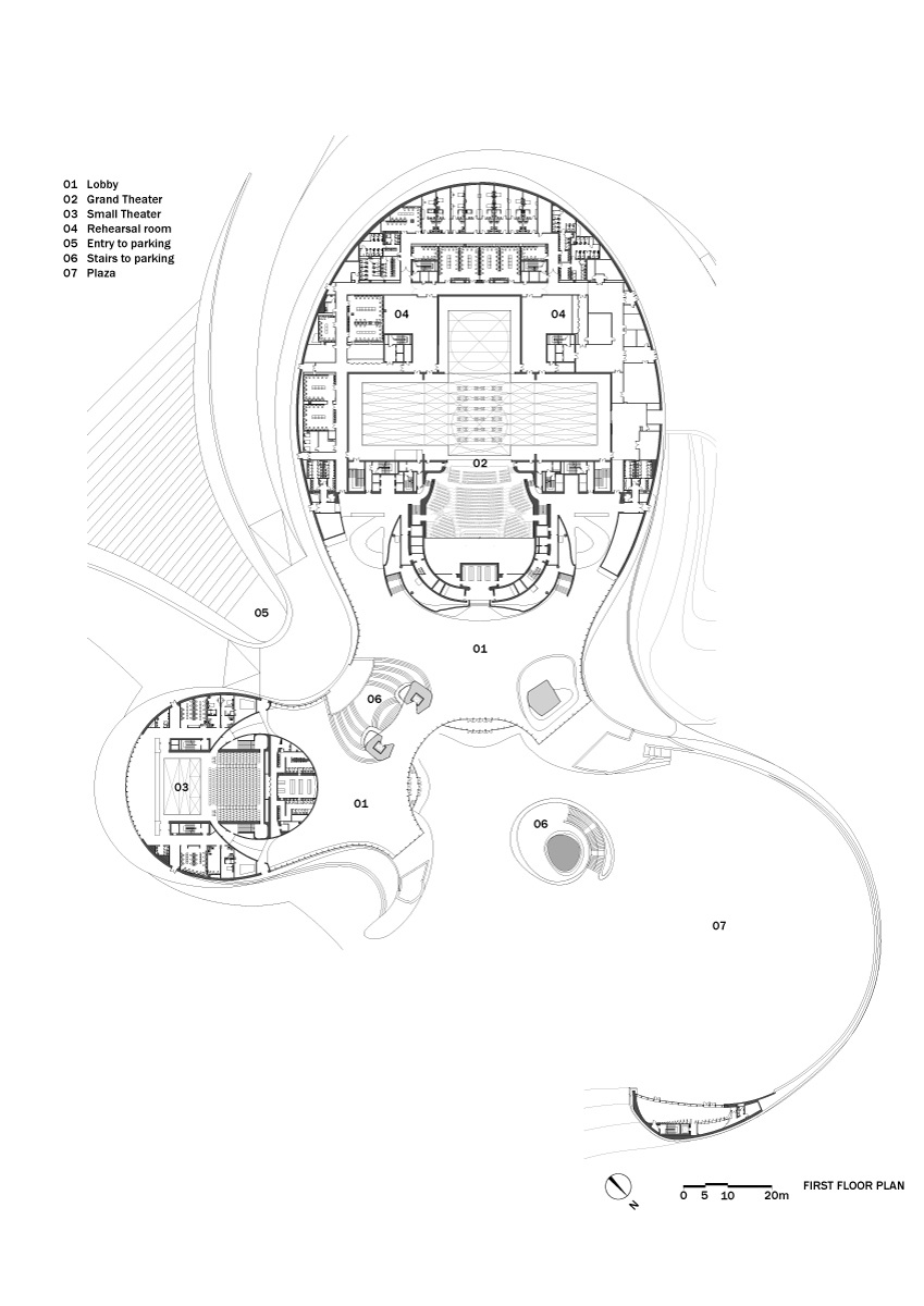 Design plan for Harbin Opera House from www.recre8tion.com