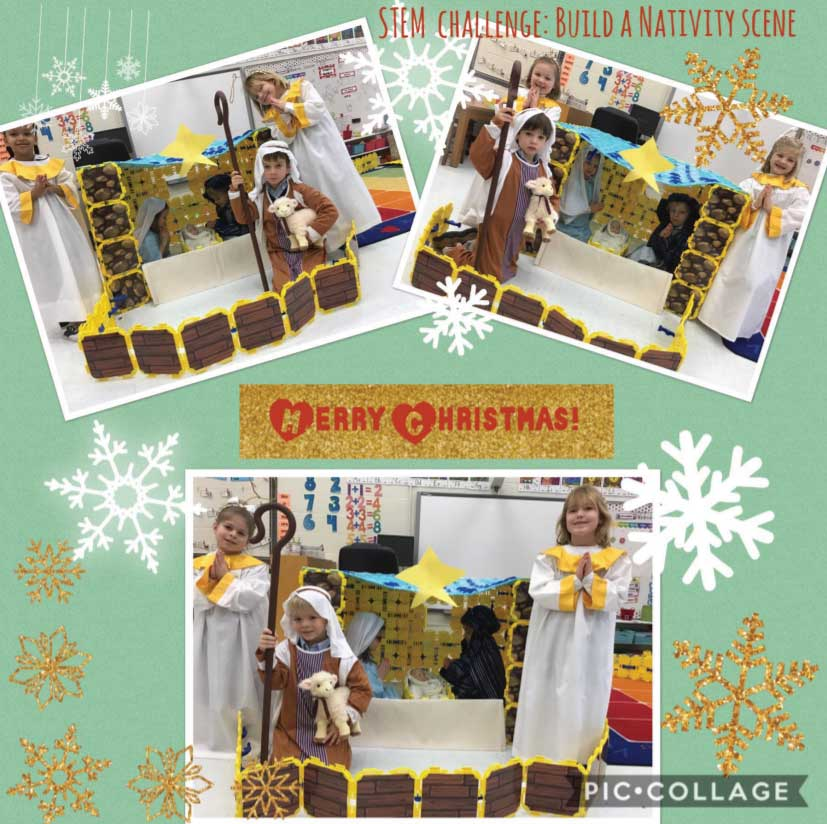 The first nativity forts we've seen!