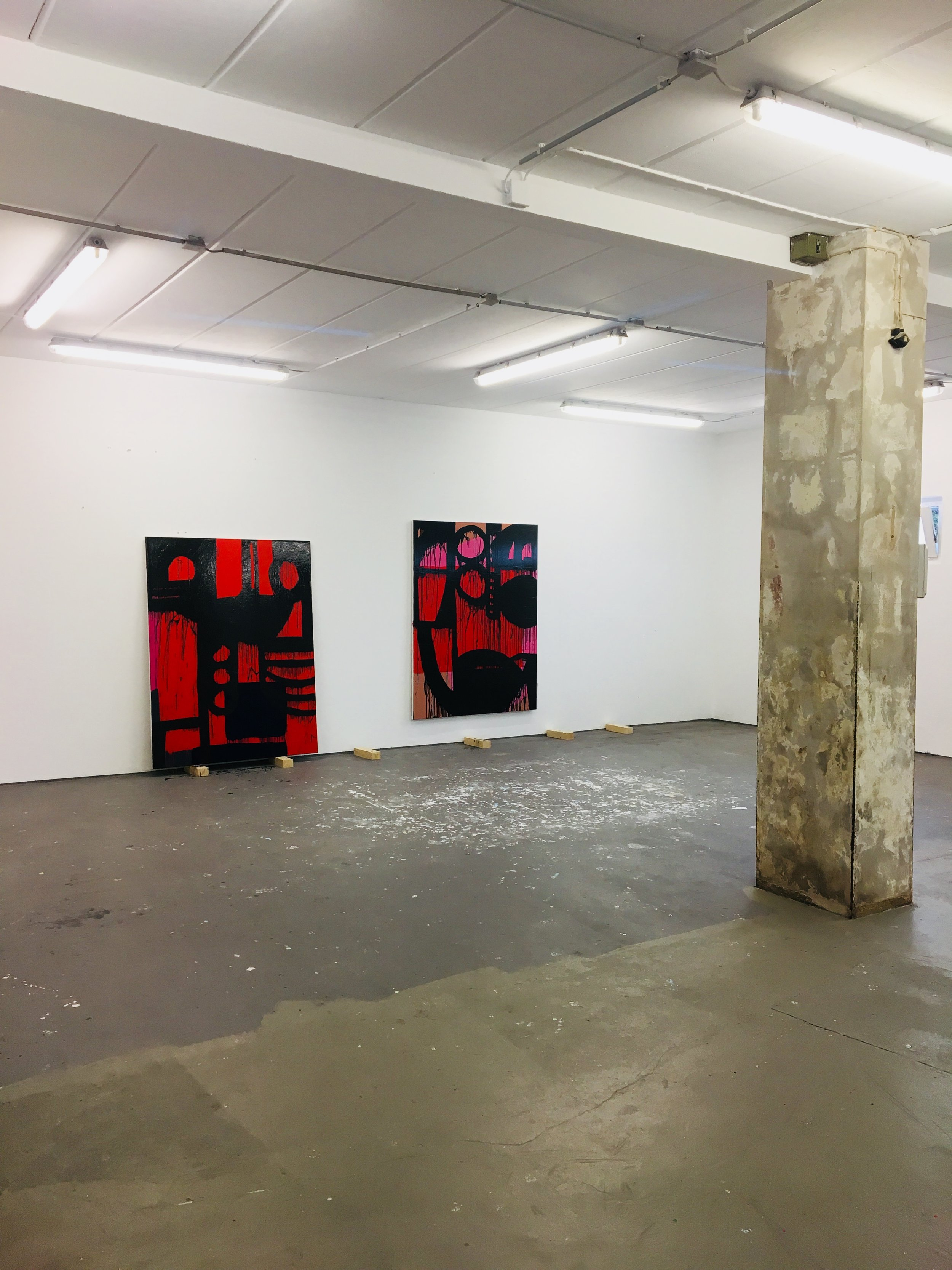 MID CASE GREY  2018 // each 170cm x 130cm  acrylic and varnish on canvas