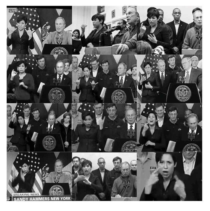 Above: Former NYC Mayor Michael Bloomberg's ASL translator Lydia Callis, added the emotion to Hizzoner's press conferences.