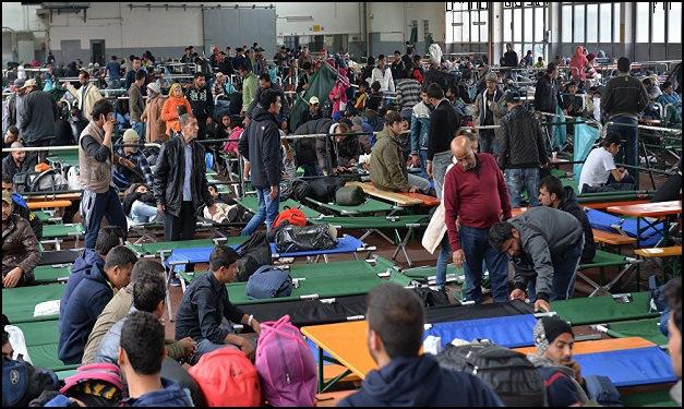 Overwhelmed asylum centers.
