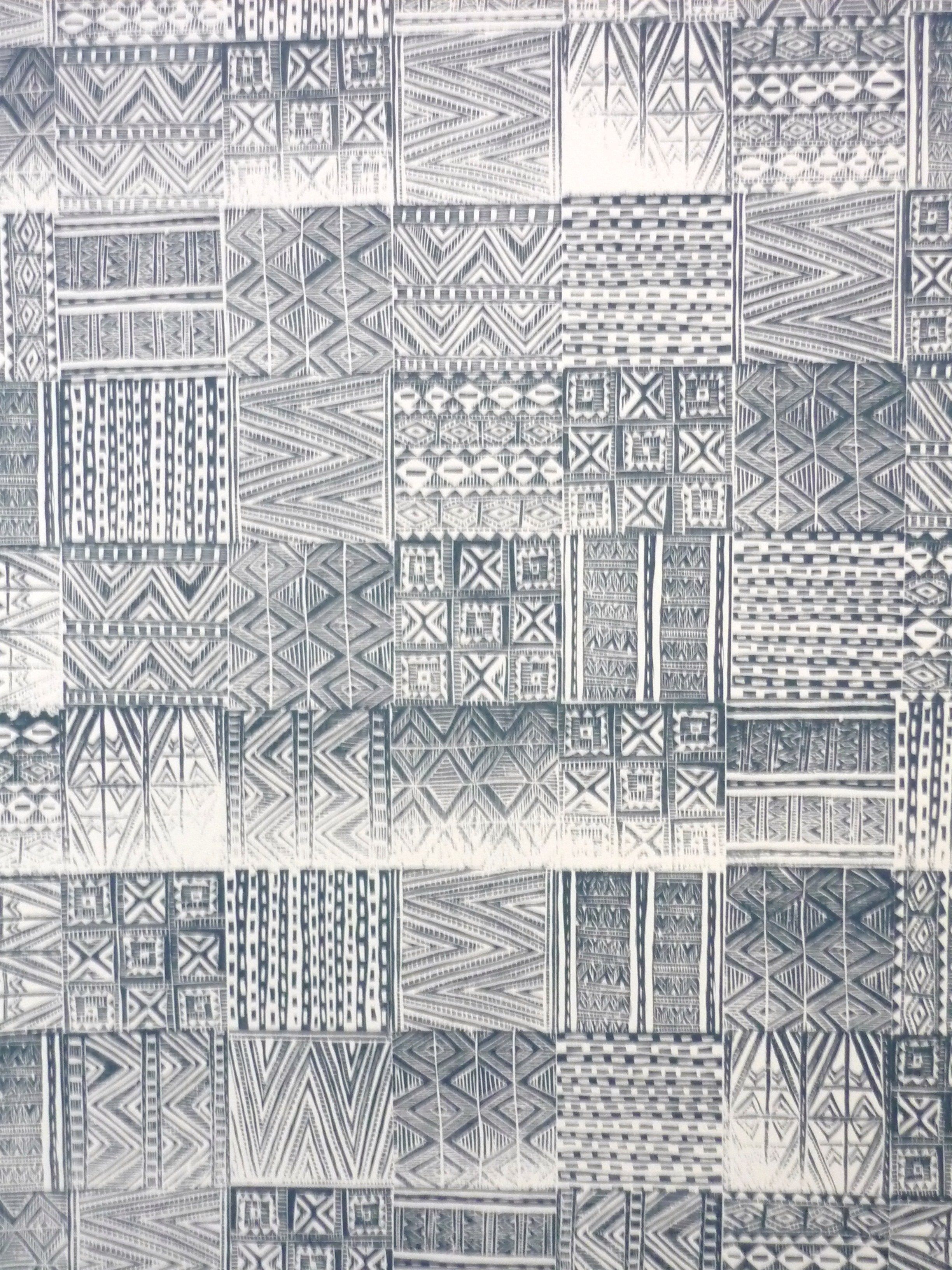 Folkloric Carvings wallpaper by India Rose Bird.