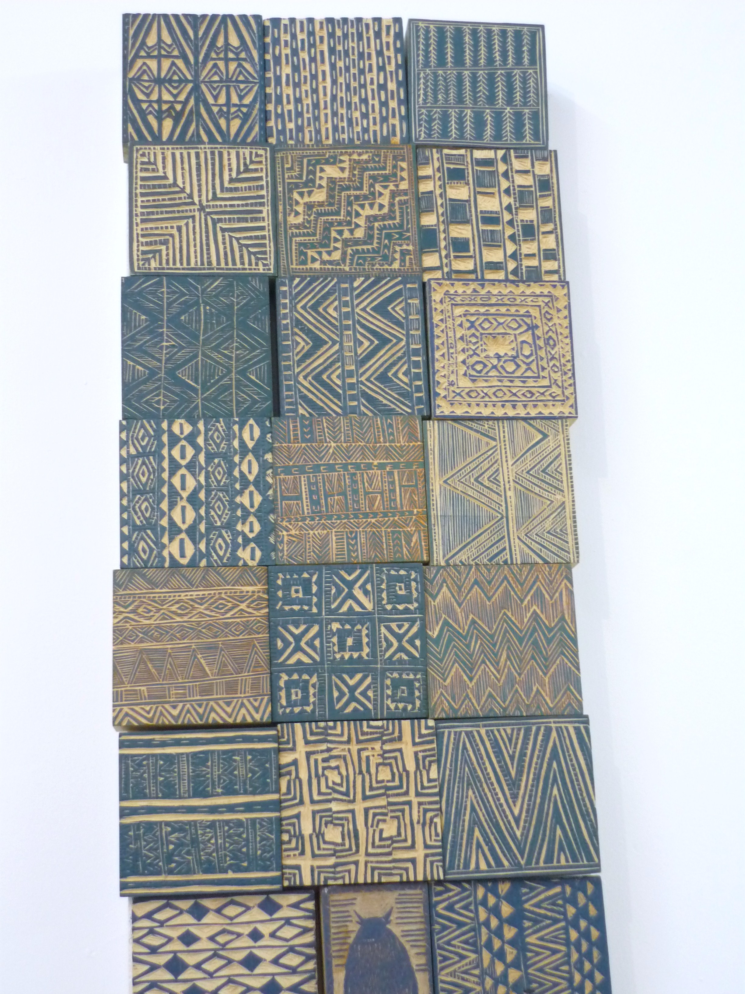 Wooden printing blocks.