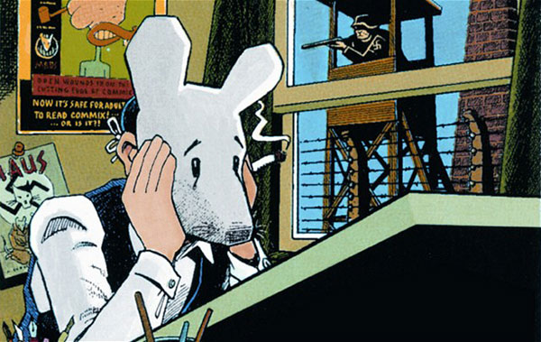 """An image from Art Spielgelman's """"Maus"""""""