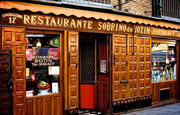 The authentic Sobrino de Botín in Madrid.