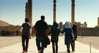 Shiraz's local sports celeb tours the sites with friends...