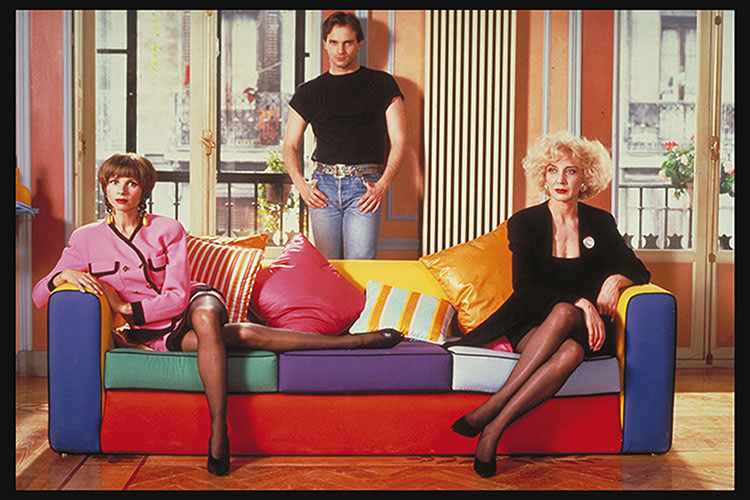 Victoria Abril, Miguel Bose and Marisa Paredes in  Tacones Lejanos  ( High Heels ).
