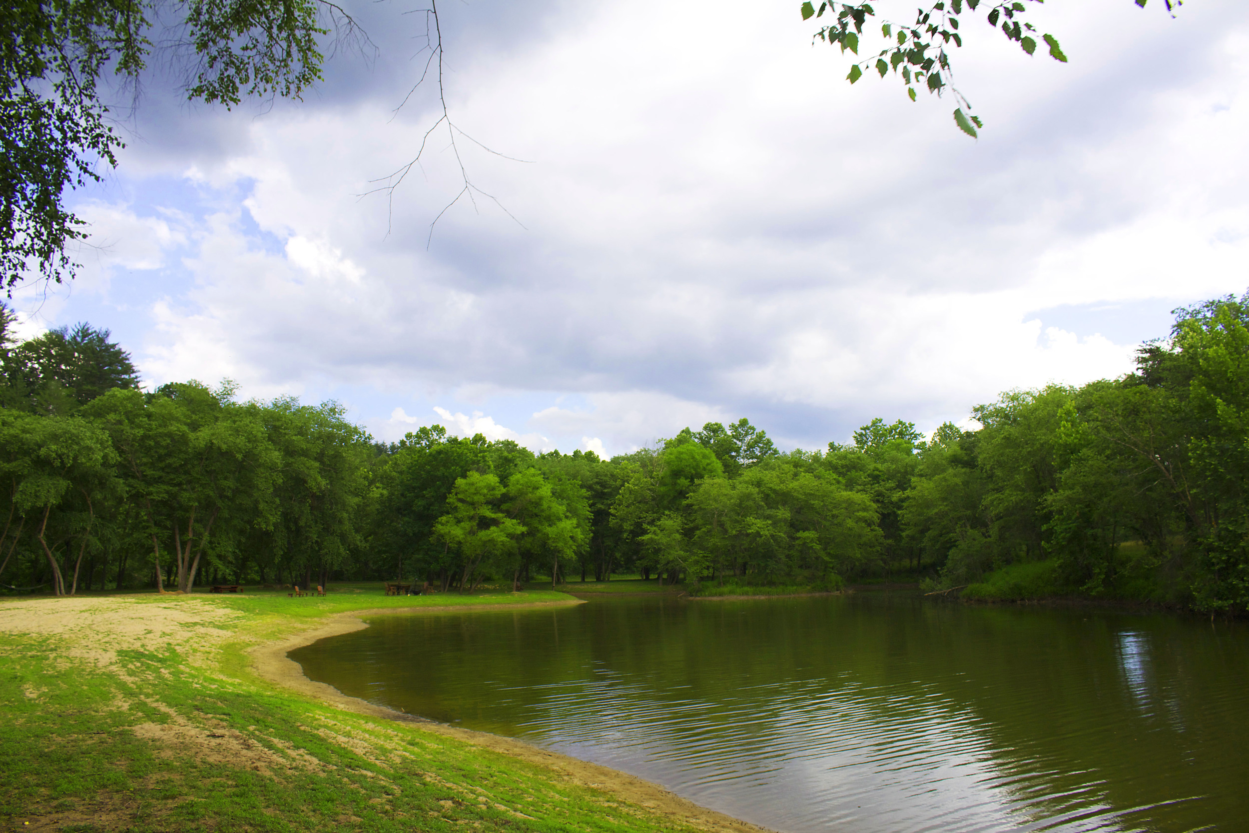 CRC residents have access to the 3-acre stocked fishing pond.