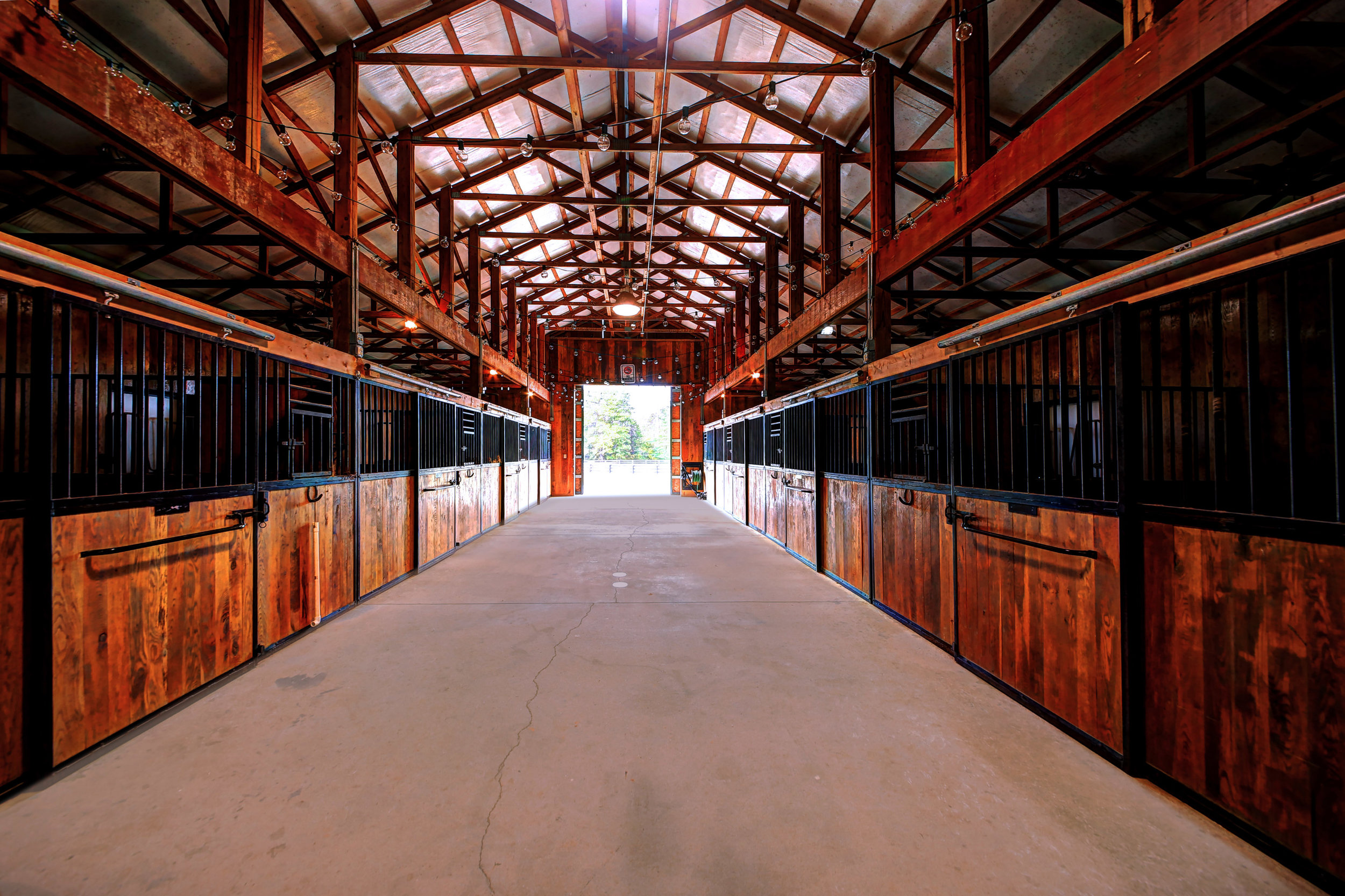 The CRC Stables includes a 16-stall barn.