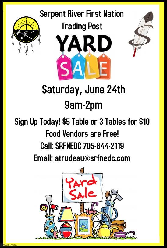 SRFN Yard Sale