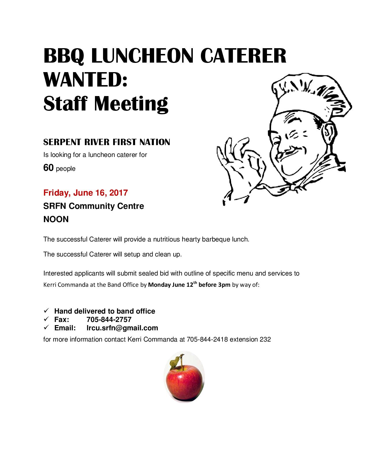 Caterer Wanted