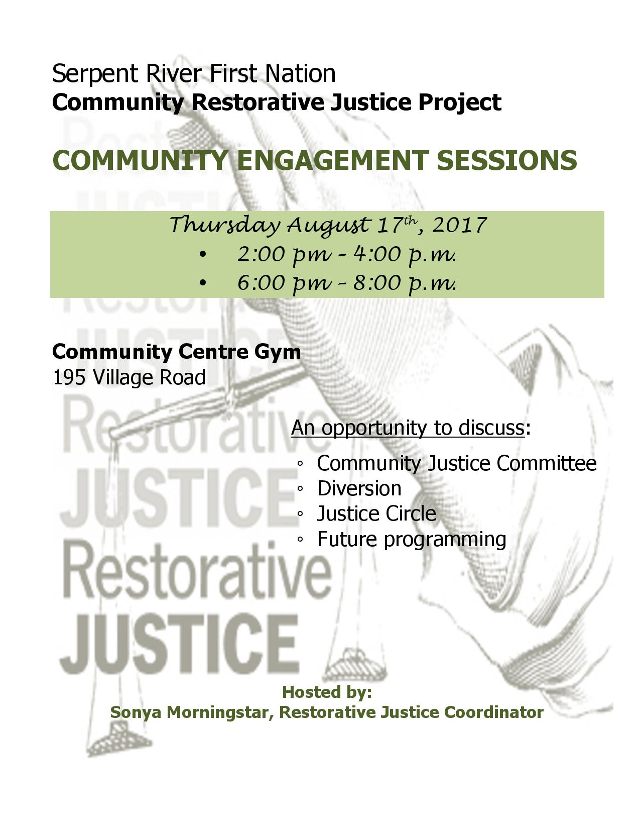 SRFN Restorative Justice Sessions
