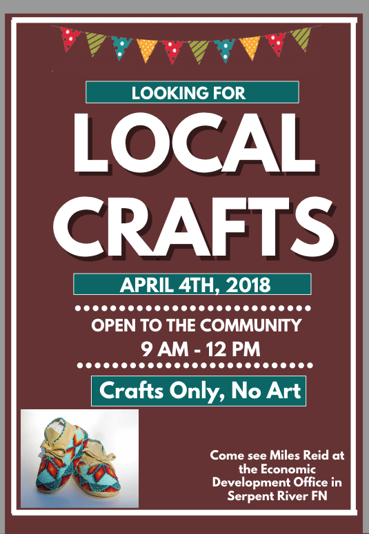 Local Crafts Flyer SRFN