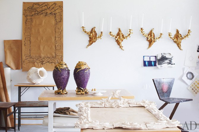 "AD 2013: ""Ceramist Eve Kaplan's Sculptural Mirrors and Artwork"" by Marcia deSanctis"