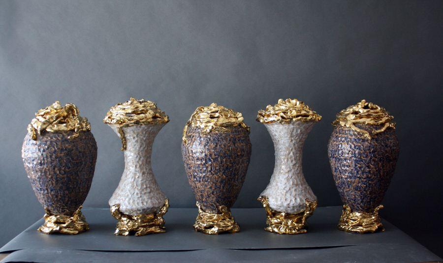 Eve Kaplan Ceramic Garniture