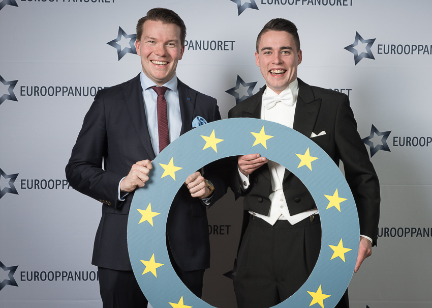 Eurooppanuoret 20 v-juhla- Mikkel Näkkäläjärvi ja Kristoffer Ingo